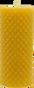 Diamond Pillar Beeswax Candle