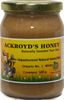 500g of 100% Pure Unpasteurized Natural Ontario #1 White Creamed Honey with Cinnamon in a glass jar.