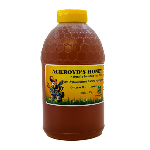 1 Kg of 100% Pure Unpasteurized Natural Ontario #1 Golden Honey.