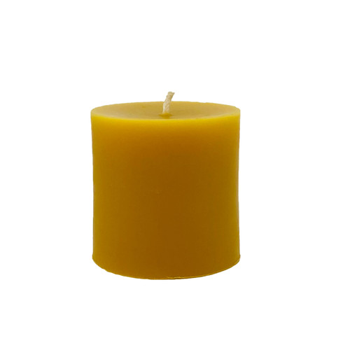 3 Inch Pillar Beeswax Candle
