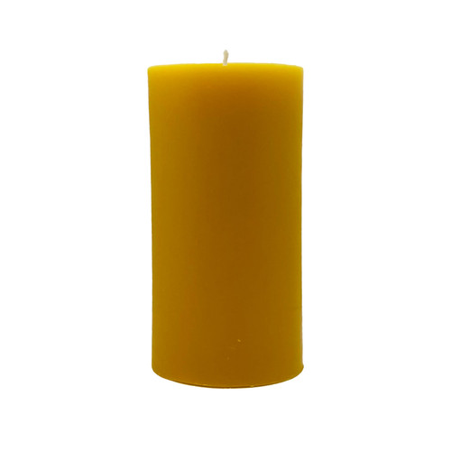 6 Inch Pillar Beeswax Candle