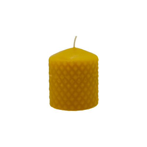 3 x3 Inch Diamond Pillar Beeswax Candle