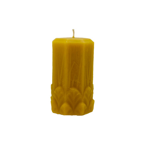 Garden Pillar Beeswax Candle