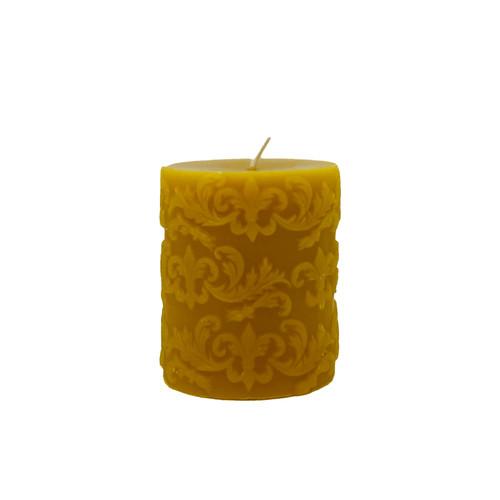 Fleur de Lys Pillar Beeswax Candle