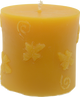 Honey Bee Pillar Beeswax Candle