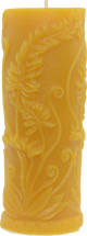 Fern Pillar Beeswax Candle