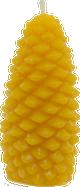 Medium Pinecone Beeswax Candle