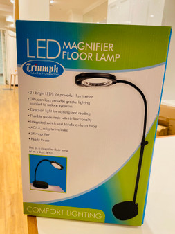 Triumph LED Magnifier floor Lamp