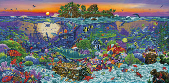 Coral Reef Island Diamond Painting Kit