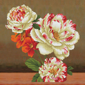 Camellia & Lilly Bouquet Pillowcase Diamond Painting Kit