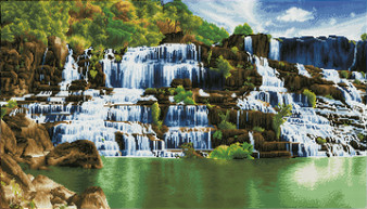 Pongour Waterfall Diamond Painting Kit
