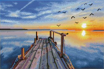 Sunset Jetty Diamond Painting Kit