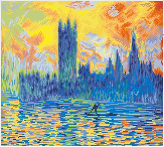 London Parliament in Winter (après Monet)