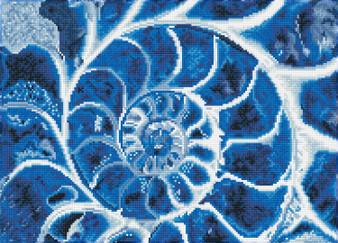 Blue Nautilus Diamond Painting Kit