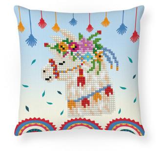 Llama Party Mini Pillowcase Diamond Painting Kit