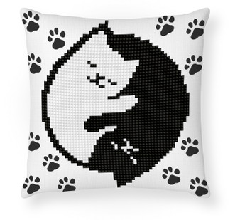 Kitty Glow In The Dark Mini Pillowcase Diamond Painting Kit