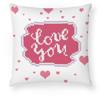 Love You Mini Pillowcase Diamond Painting Kit