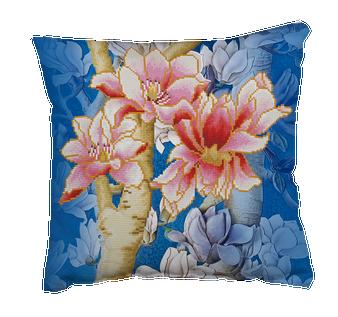 Magnolias On Blue 1 Pillowcase Diamond Painting Kit