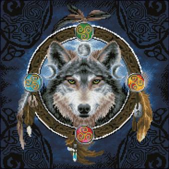 Celtic Wolf Guide Diamond Painting Kit