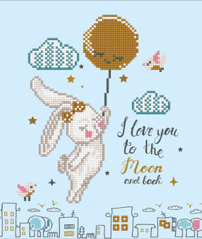 Love You To The Moon & Back Diamond Painting Kit