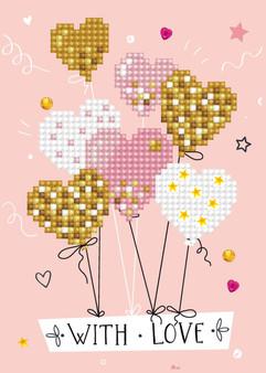 Love Balloons Greeting Card Diamond Painting Kit