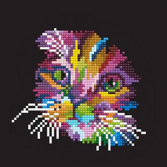 Coloured Cat Diamond Painting Kit
