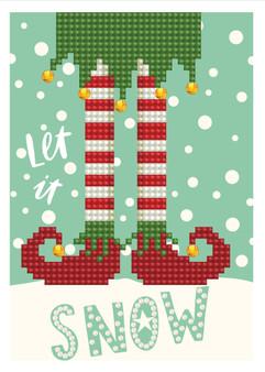 Let It Snow Greeting Card Diamond Painting Kit
