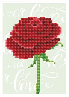 Love Rose Greeting Card Diamond Painting Kit