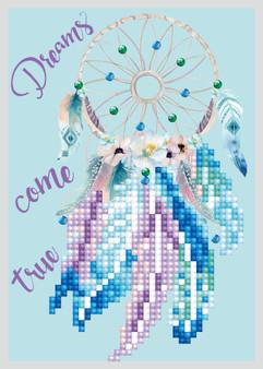 Dreams Come True Greeting Card Diamond Painting Kit