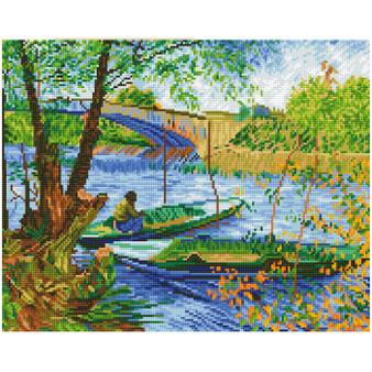 Fishing In Spring (Van Gogh) Diamond Painting Kit