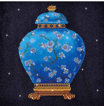 Blue Vase Diamond Painting Kit