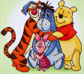 Pooh and Friends Diamond Painting Kit