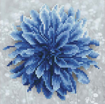 Blue Dahlia Diamond Painting Kit