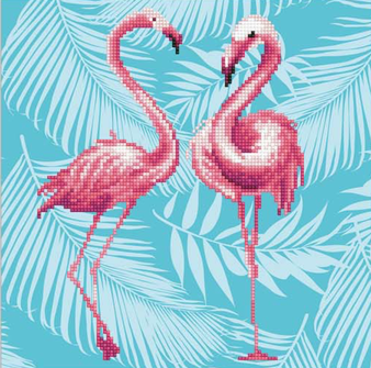 Flamingo Duo Diamond Painting Kit