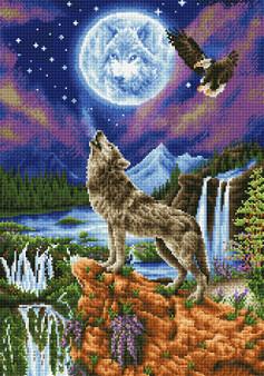 Mystic Wolf Diamond Painting Kit