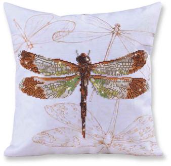 Dragonfly Earth Decorative Pillow Diamond Painting Kit