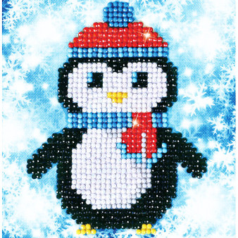 Christmas Penguin Picture Diamond Painting Kit
