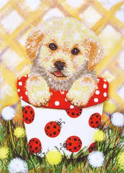 Pup In Pot Diamond Painting Kit