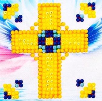 Golden Cross Diamond Painting Starter Kit