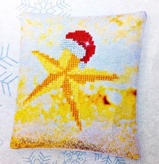 Decorative Christmas Star Mini Pillow Case