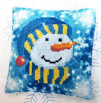 Decorative Christmas Snowman Cap Mini Pillow Case