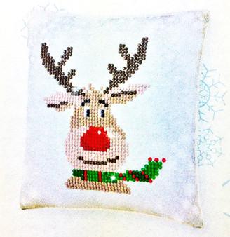 Decorative Christmas Reindeer Mini Pillow Case