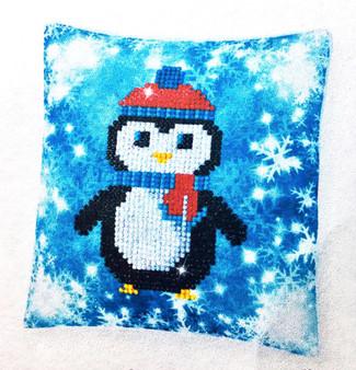 Decorative Christmas Penguin Mini Pillow Case