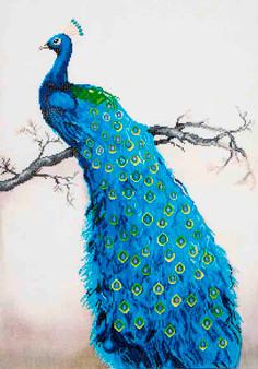Blue Peacock Diamond Painting Kit