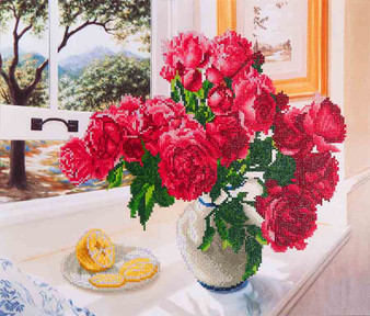 Roses By The Window Diamond Painting Kit
