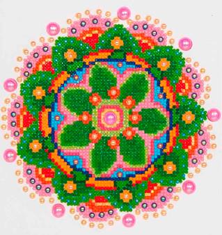 Flower Mandala Diamond Painting Kit