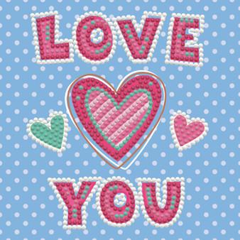 Love You Dotz Box Diamond Painting Kit