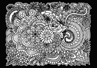 Flowers Velvet Art Poster