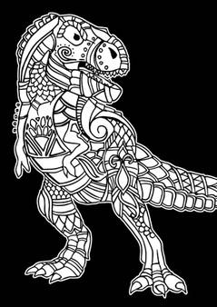 Dinosaur Velvet Art Poster