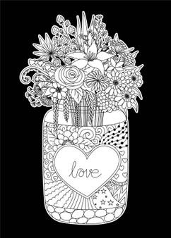 Love Jar Velvet Art Poster